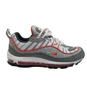 Nike Air Max 98 Mens Shoes Particle Grey Track Red